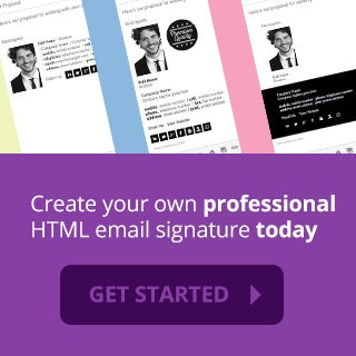 get started creating your email signature now